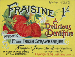 Advert for Fraisine Dentifrice